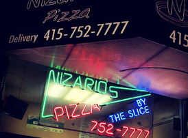 Nizario's pizza Geary @ 3rd ave.
